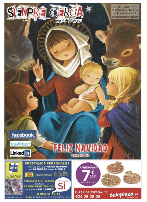 Feliz Navidad. Postal Año 1966
