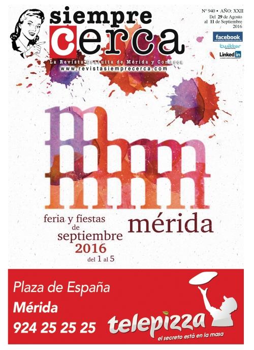 Programa Oficial Feria y Fiestas. Mérida 2016