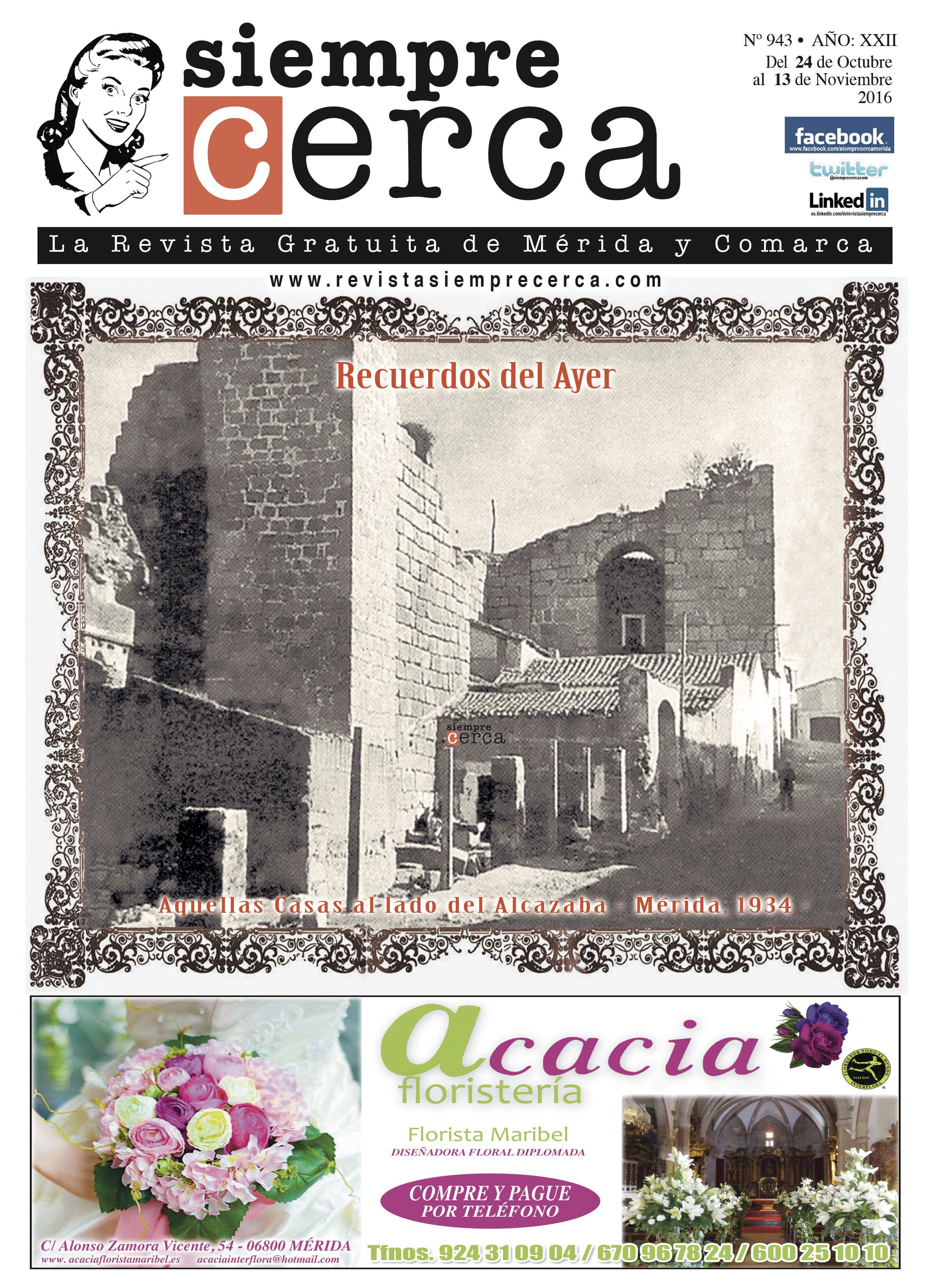 Alcazaba. Mérida. 1934